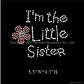 I'm the Little Sister Iron on Rhinestone