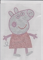 Hot Fix Rhinestone Transfer Peppa Pig Iron on Bling 1