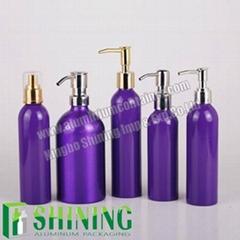 Purple Aluminum Shampoo Bottle Manufacturer