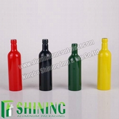 300ml Colorful Aluminum Fuel Additive Bottle