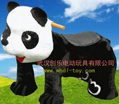 毛絨電動玩具車