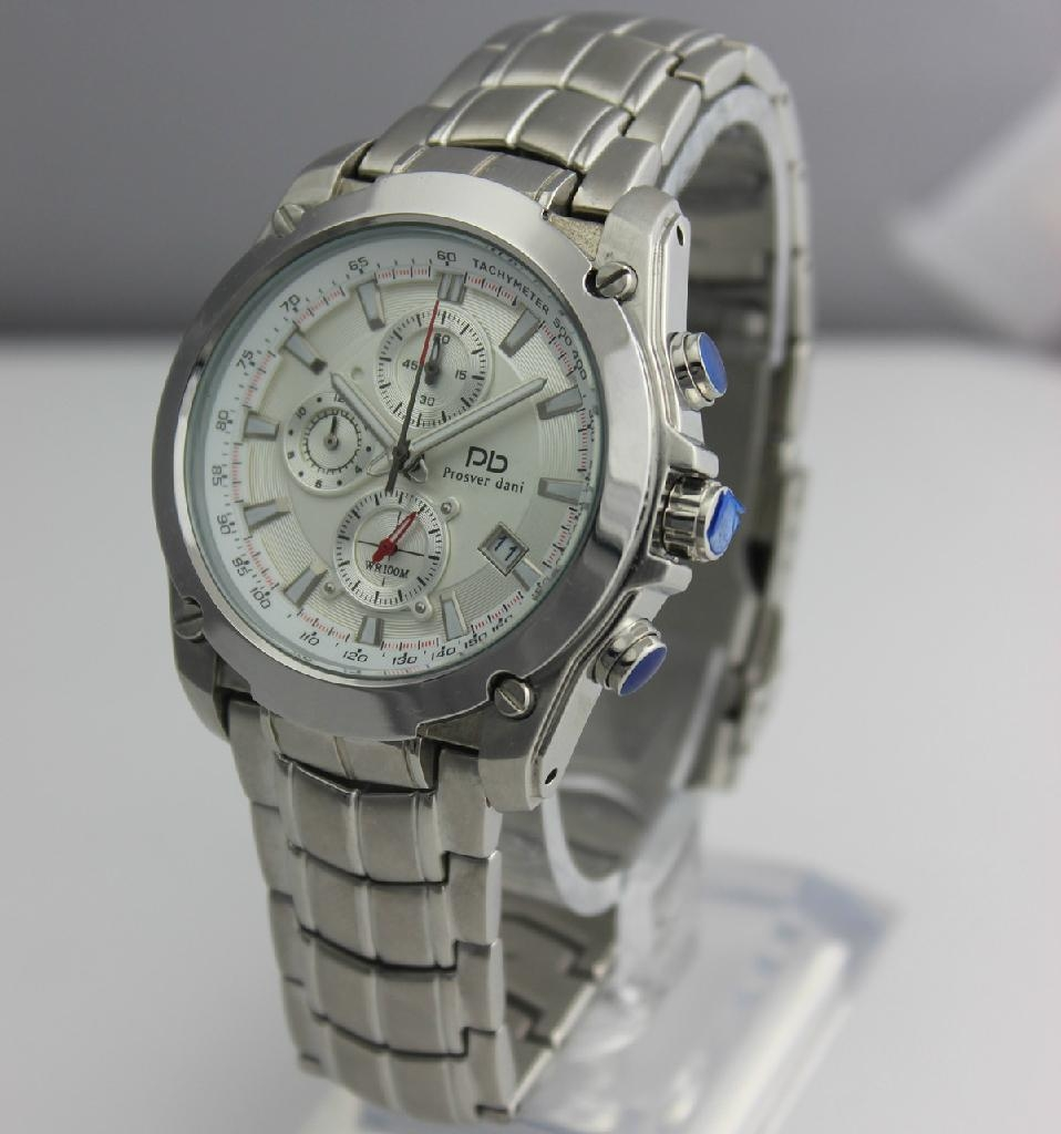 men style fashion stainless steel watch 78001G-1A1 2