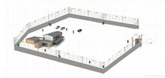 库房墙体金属振动探测方案器