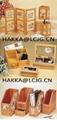 Wooden Desk screen-Bamboo Pen box-Vertical File Holder 1