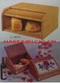 Wooden Roll Top Bread Box-wooden bread