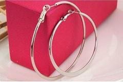 不锈钢镶钻耳环
