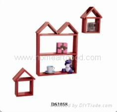 DIY home decorative wooden she  es 1