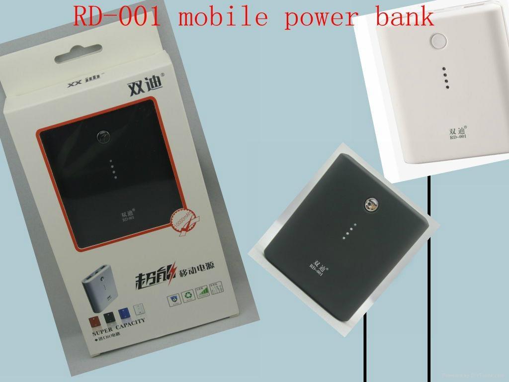 portable power bank dual USB ports 10000mAh external battery charger