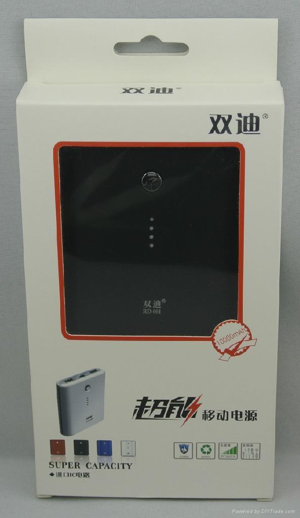 portable power bank dual USB ports 10000mAh external battery charger 4