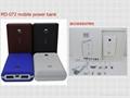 portable power bank 7500mAh with dual USB ports for charging digital camera, PSP