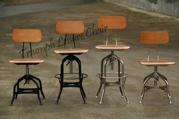 Mid Century Modern Wood Stool Vintage Toledo Chair Toledo