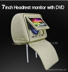 7寸车载头枕DVD液晶显示器