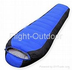 new camping mummy white duck down sleeping bag