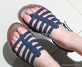 2013 new fashion summer comfortable cool PU leather knit sandals women shoes