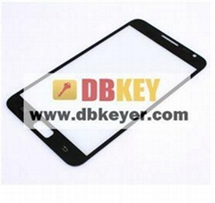Black  LCD Glass Display Screen Lens for Samsung Galaxy Note N7000 i9220
