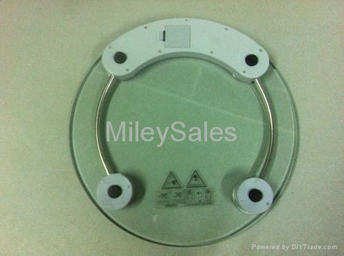 Transparent Glass Bathroom Scale 03A 2
