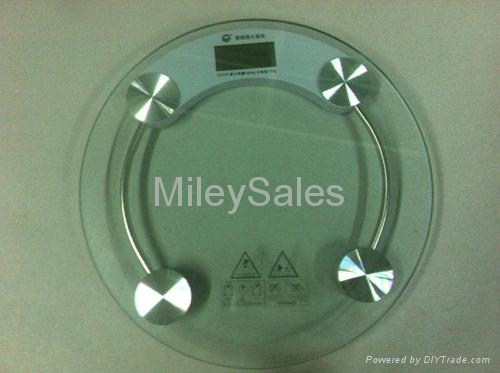 Transparent Glass Bathroom Scale 03A 4