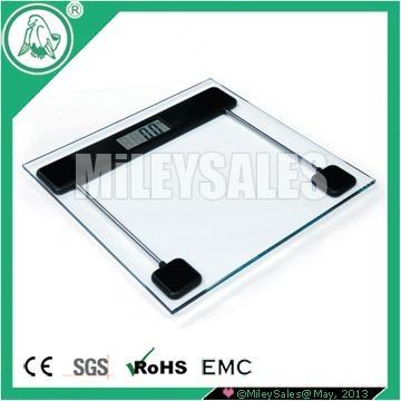 SLIM ELECTRONIC BATHROOM SCALE 12D 1