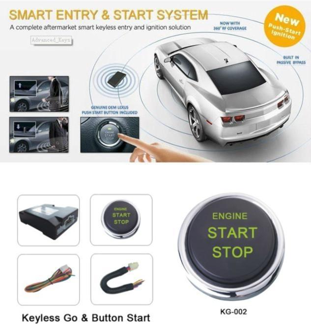 Car Auto Engine Start Stop Button One Key Start Keyless Go System Ignition Switc 1