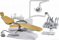 High quality dental unit with top-mounted tray