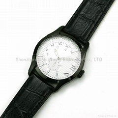 Import stainless steel watch case with  genuine leather