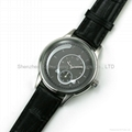 stainless steel watch with genuine