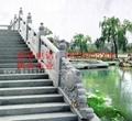 寺庙走廊石栏杆