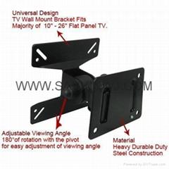 "Ultra-Slim 22lbs 10-23"" Flat Panel Screen LCD LED Plasma TV Wall Mount Bracket"