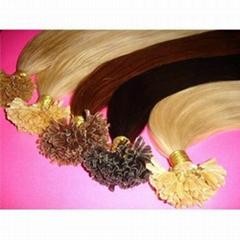 Supplier cheaper nail hair extensions brazilian virgin hair