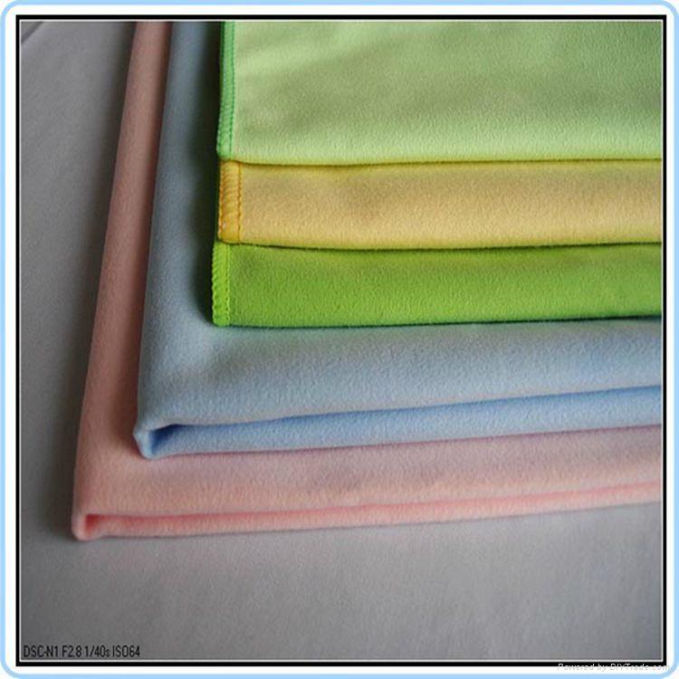 Polyester Nylon Suede Microfiber towel fabric 3