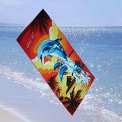 microfiber suede photo printing beach towel