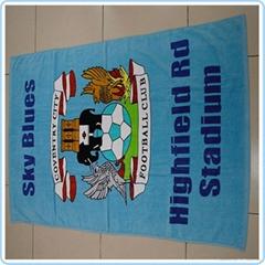 Printed Micro Suede Beach Towel