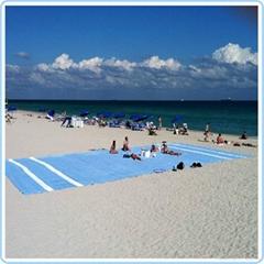Microfiber suede printed beach towel