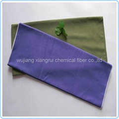 Polyester nylon suede fabric for cleaning cloth