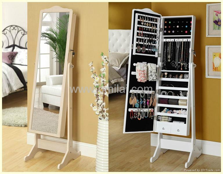 Exceptional Jewelry Mirror Storage Mirrored Jewelry Cabinet 1 ...