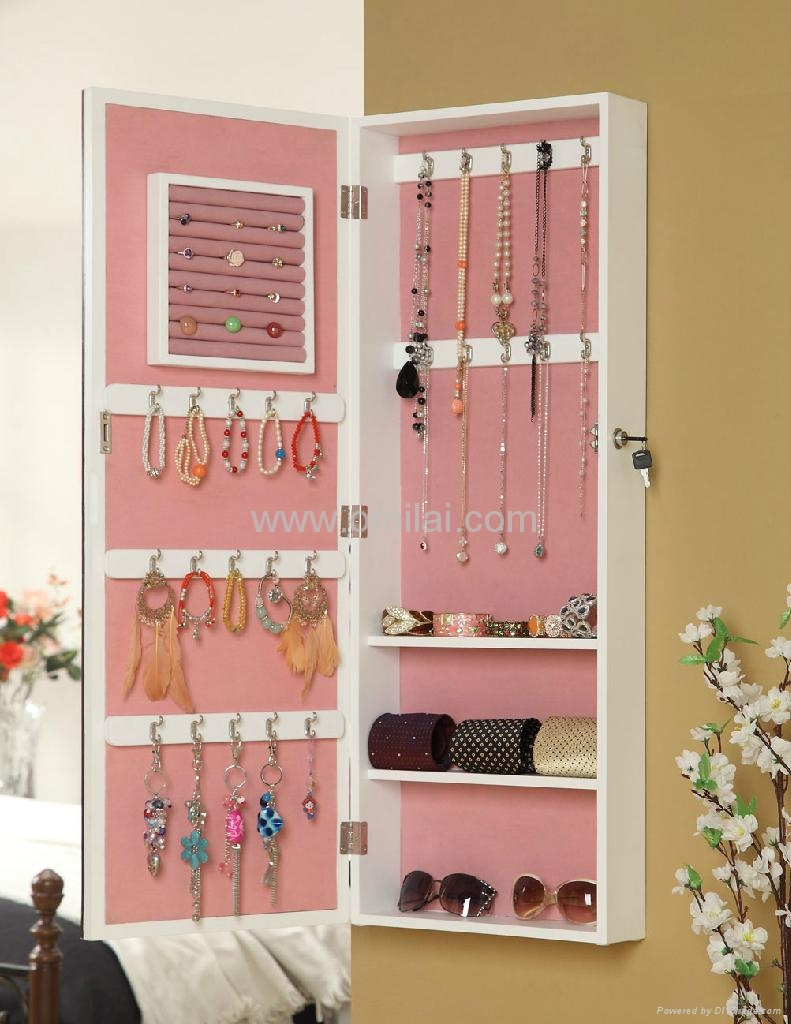 Wall Mounted Dressing Mirror Jewelry Armoire 410301