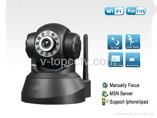 Wifi IP Webcam PTZ Remote Control Mini Camera CCTV (ASW380) 2