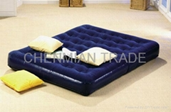 Double Size Flocked Air Bed(CM-BED002)