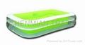 Transparent Green Rectangula Swimming