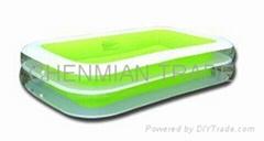 Transparent Green Rectangula Swimming Pool(CM-POOL003)