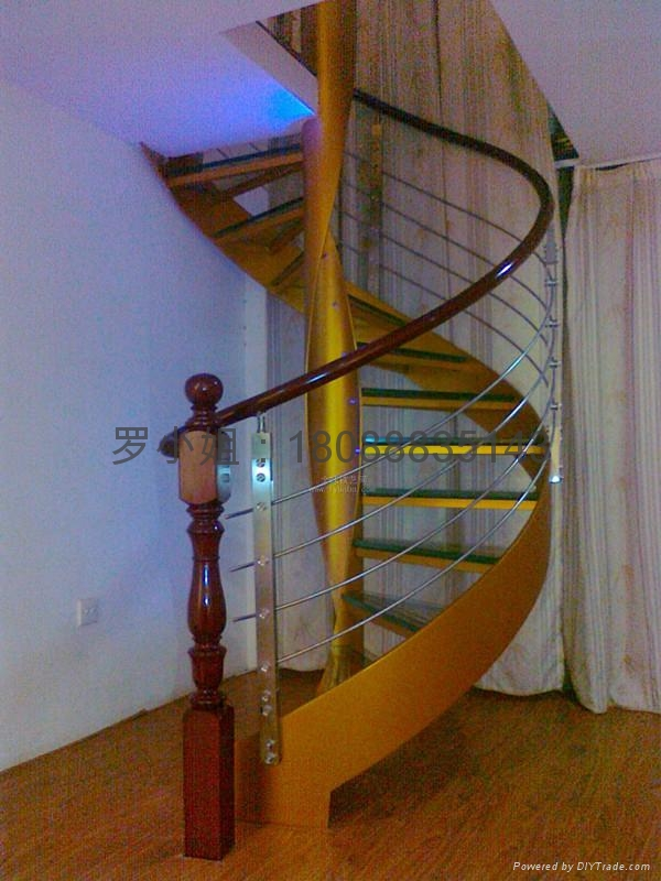 不锈钢楼梯旋转扶手