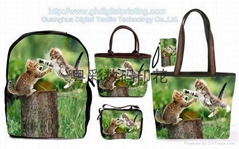 Casual canvas bags customized digital printing process