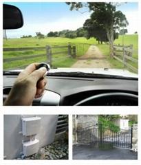 Solar powered swing gate opener
