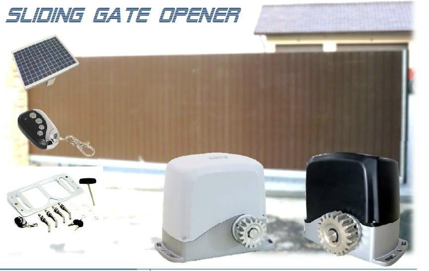 Solar powered sliding gate operator 1