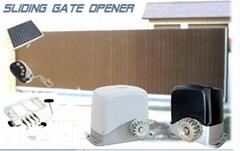 Solar powered sliding gate operator