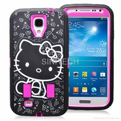 Hello Kitty pattern custom design shockproof protective defender case for samsun