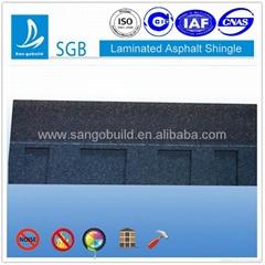 Laminated asphalt shingle