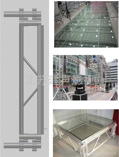 铝合金可拆装玻璃舞台 1