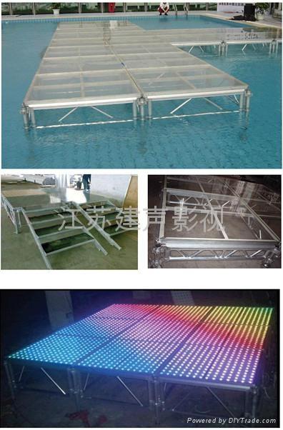 铝合金可拆装玻璃舞台 2