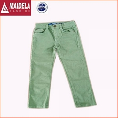 Children's Candy-colored cotton leisure small straight jeans